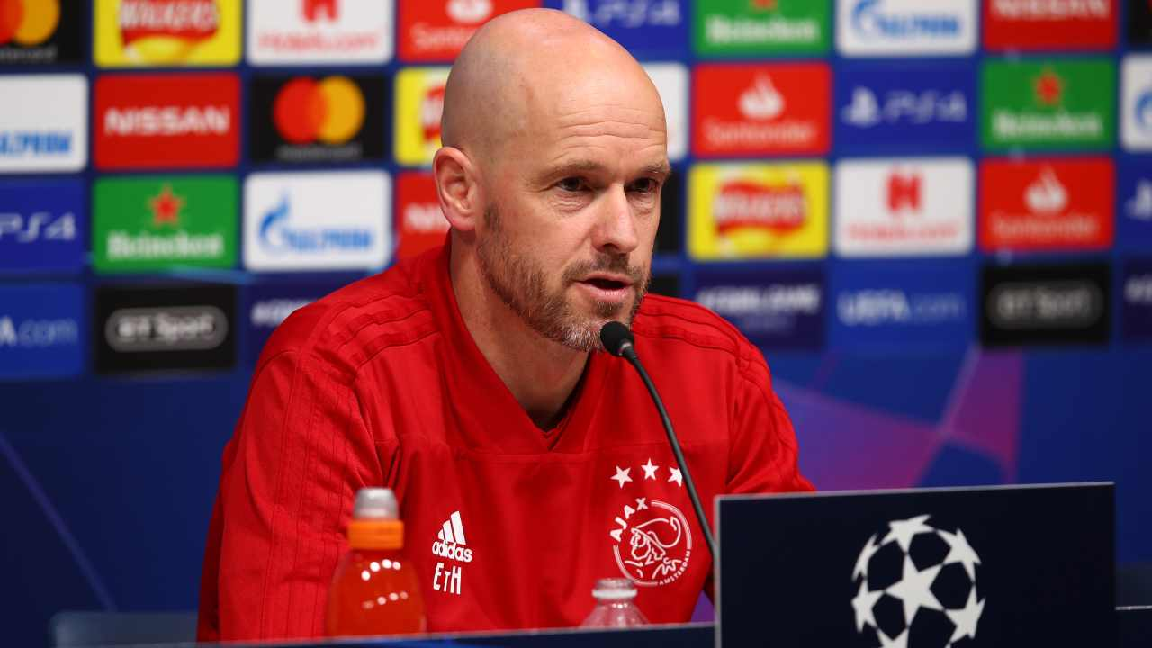 Erik ten Han, allenatore dell'Ajax (Foto di Julian Finney/Getty Images)