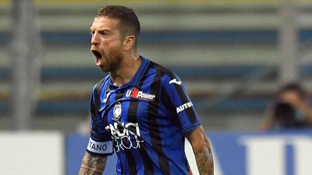 Atalanta, Papu Gomez segna il secondo gol contro il Parma, 28 luglio 2020 (foto di Alessandro Sabattini/Getty Images)