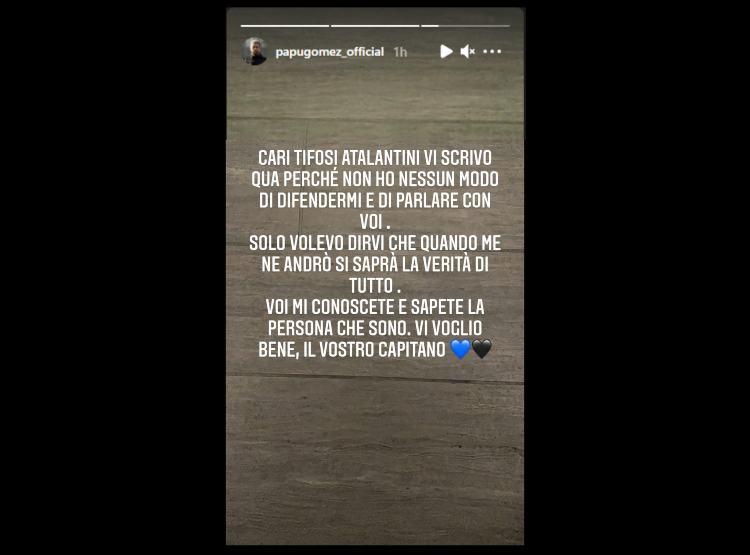 Il post di Papu Gomez su Instagram (Fonte: @papugomez_oficial)
