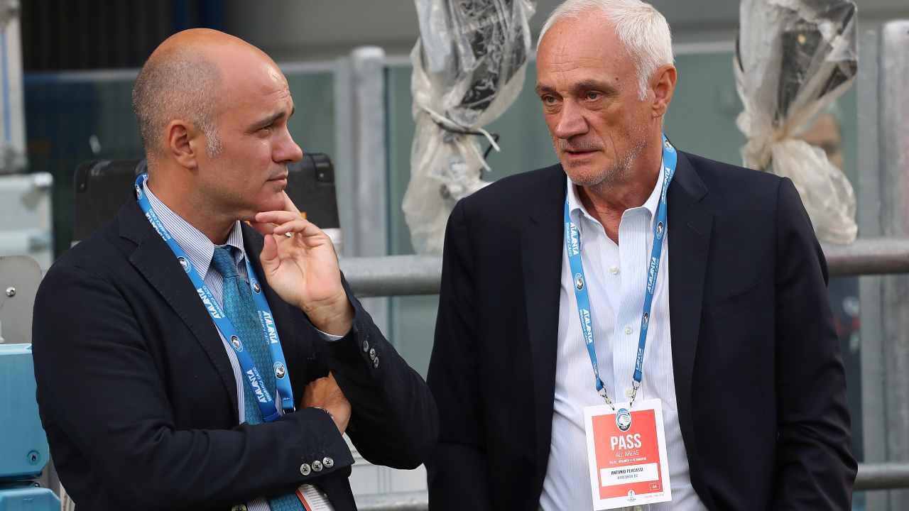 Atalanta, il CEO Luca Percassi ed il presidente Antonio Percassi (Foto di Marco Luzzani/Getty Images)