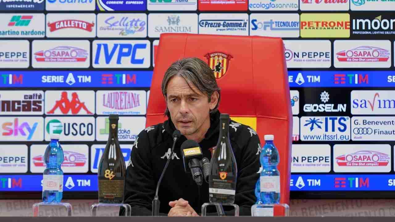Benevento, Pippo Inzaghi in conferenza stampa (Foto © Benevento)
