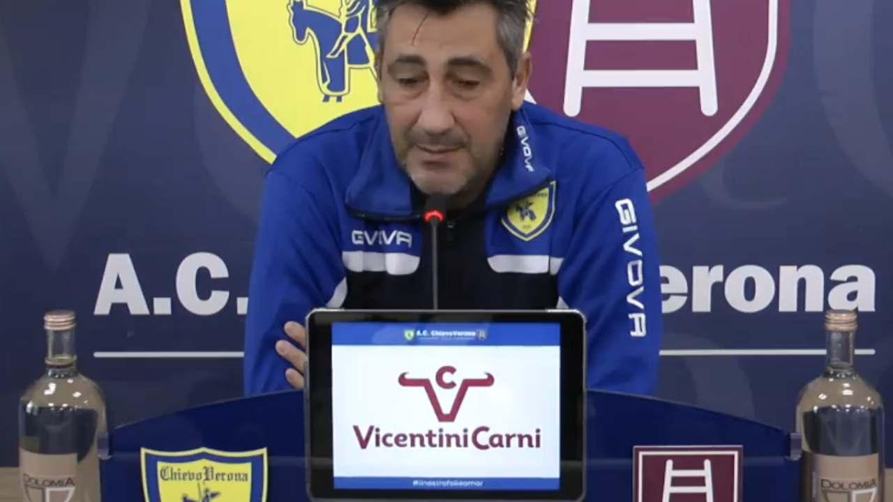 Chievo Verona, il tecnico Aglietti in conferenza stampa (foto © Chievo Verona)