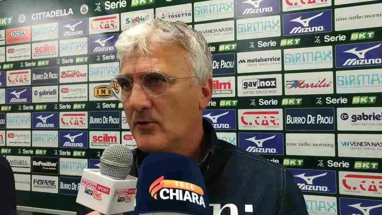 Cittadella, il tecnico Roberto Venturato risponde ai giornalisti (foto © Cittadella)