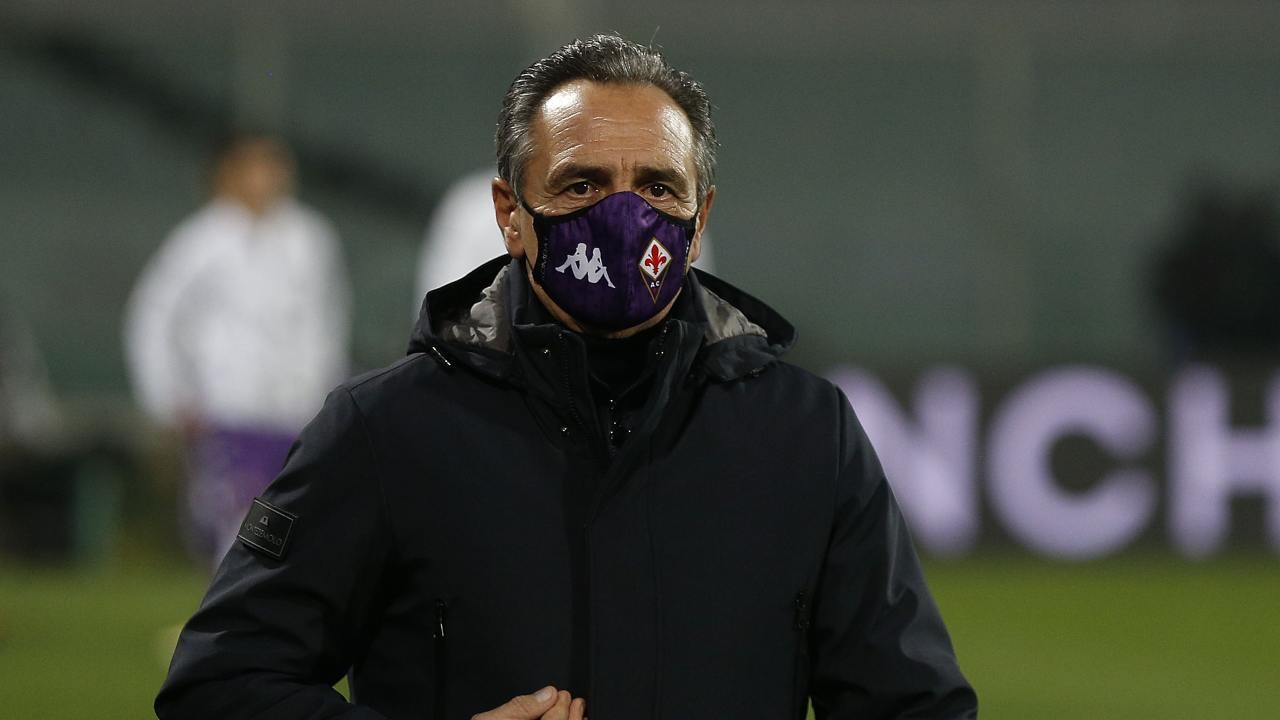 Fiorentina, il tecnico Cesare Prandelli al termine della partita con il Sassuolo, 16 dicembre 2020 (foto di Gabriele Maltinti/Getty Images)