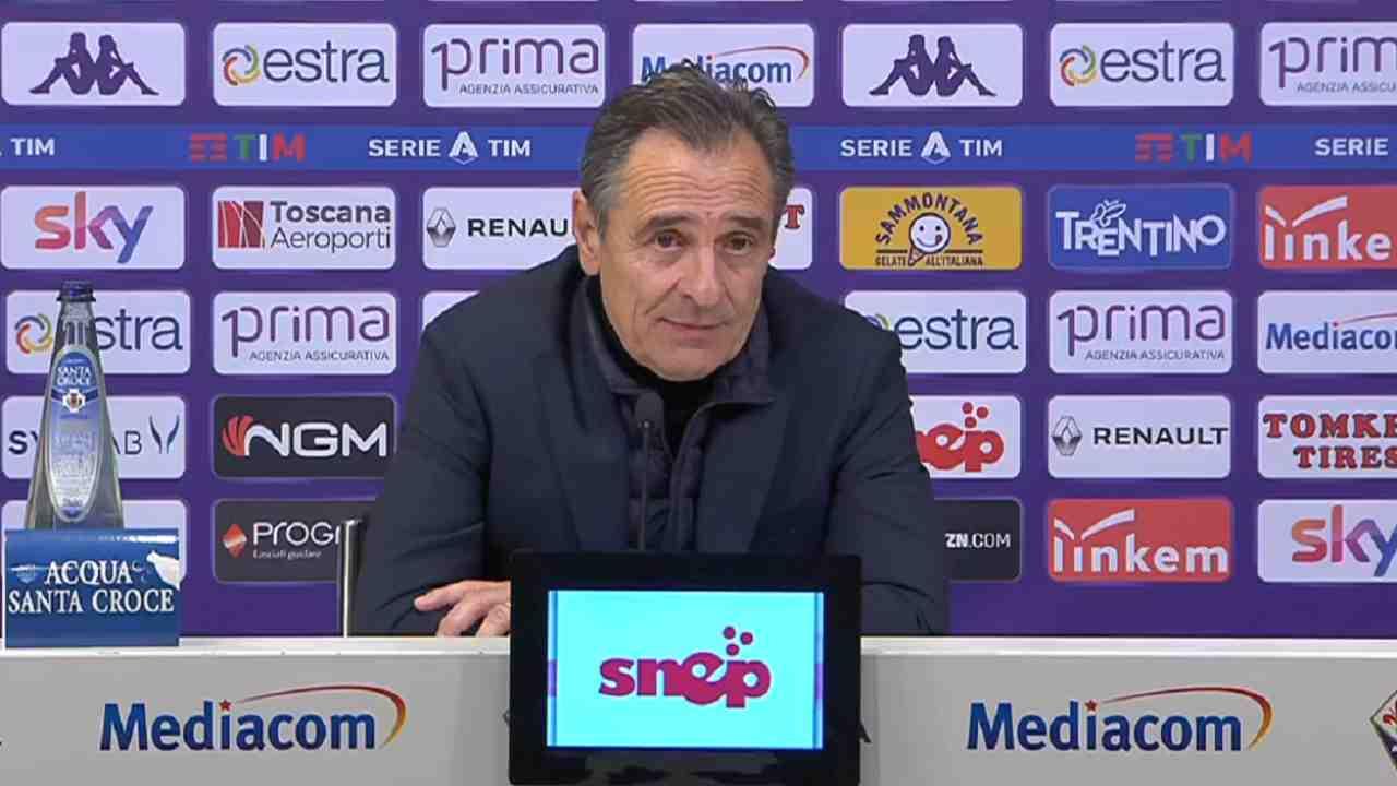 Fiorentina, il tecnico Prandelli in conferenza stampa, 15 dicembre 2020 (foto © Fiorentina)