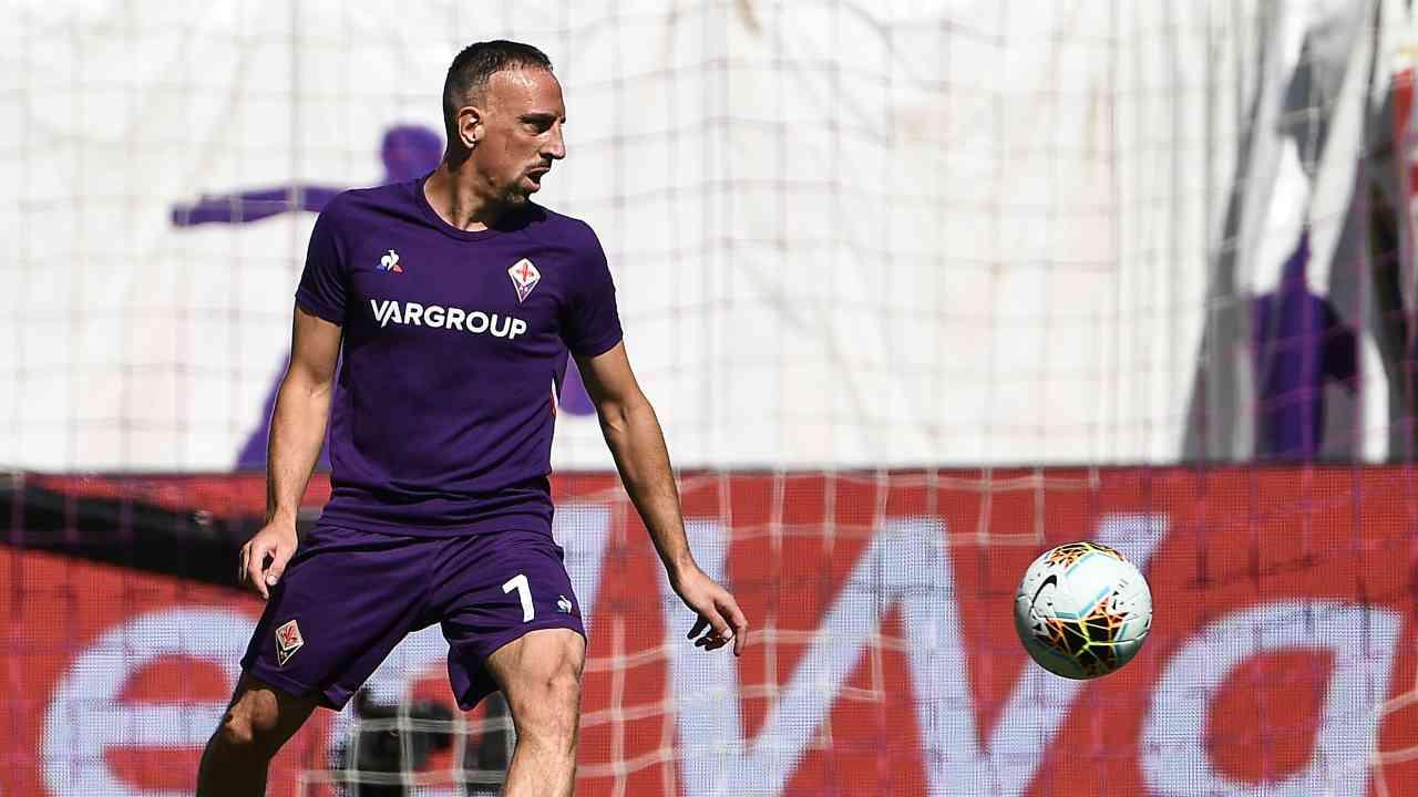 Fiorentina, Frank Ribery in campo contro la Juventus il 14 settembre 2019 (Photo by Vincenzo Pinto / AFP via Getty Images)