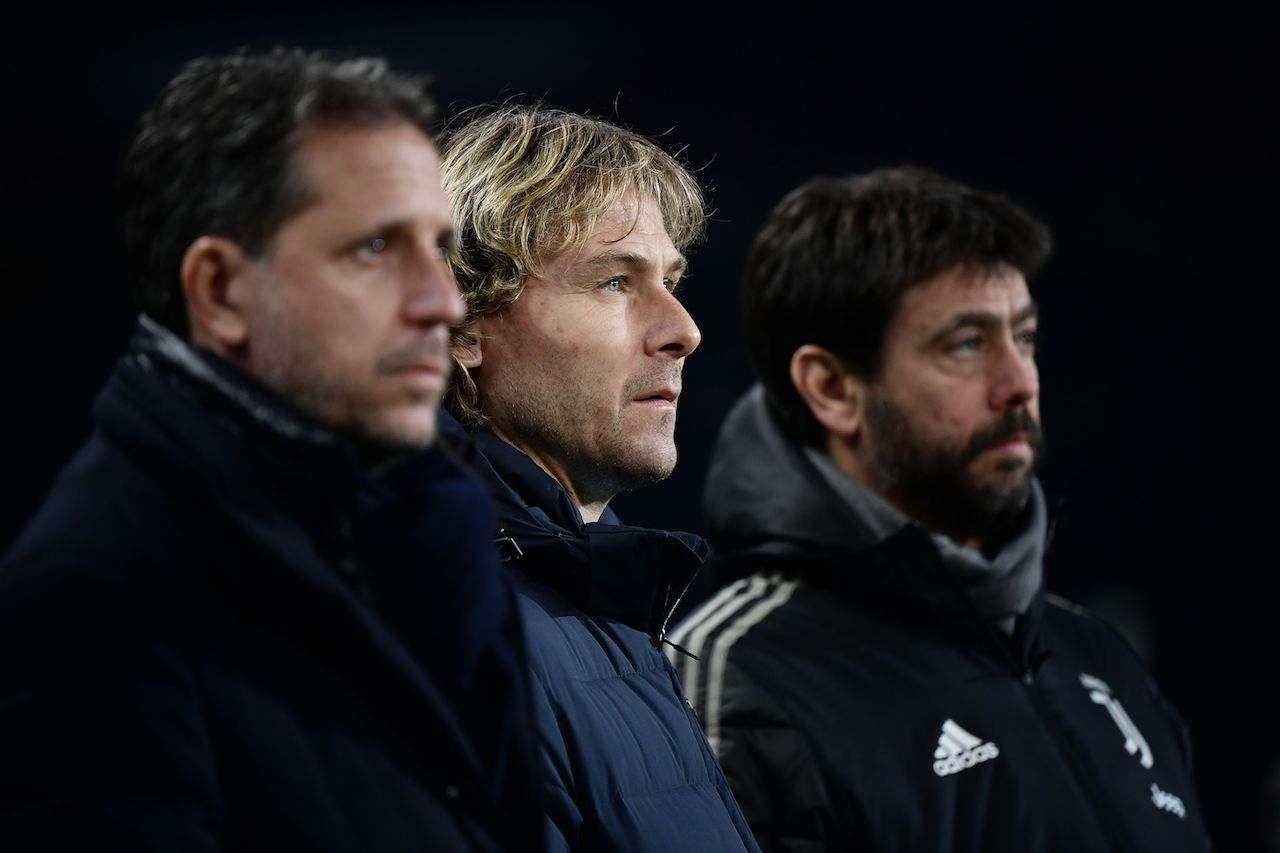 Pavel Nedved e Fabio Paratici. Getty Images