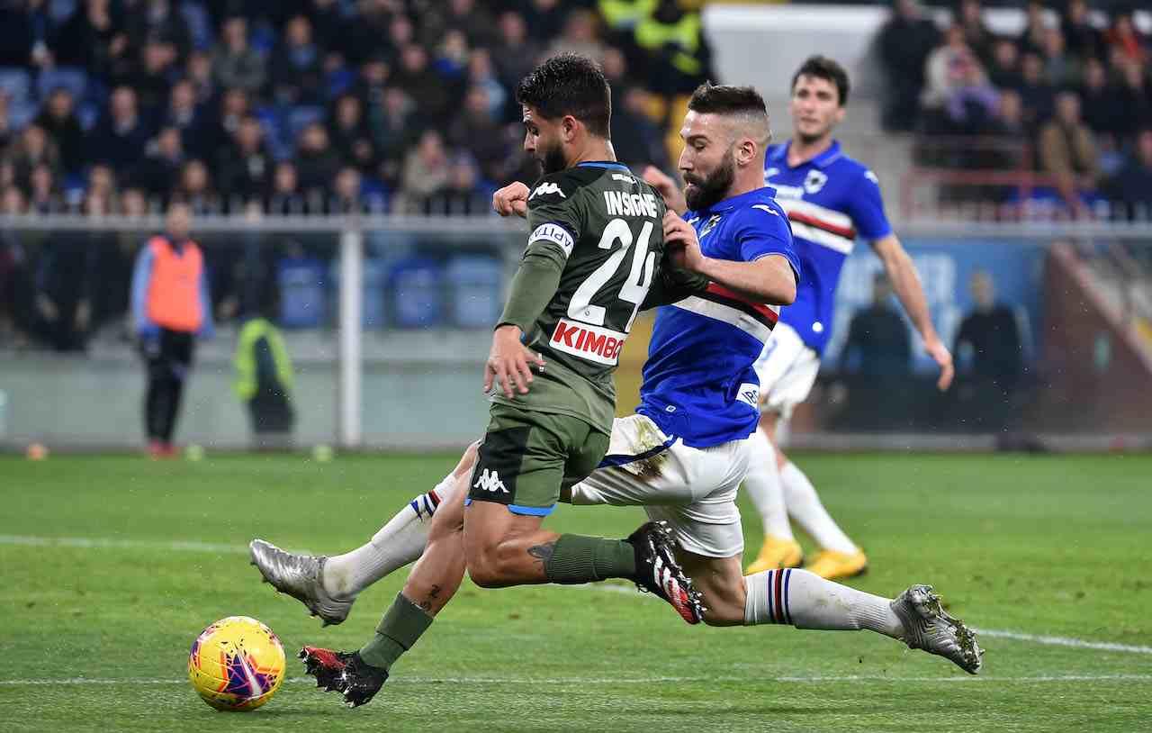 Napoli-Sampdoria. Getty Images