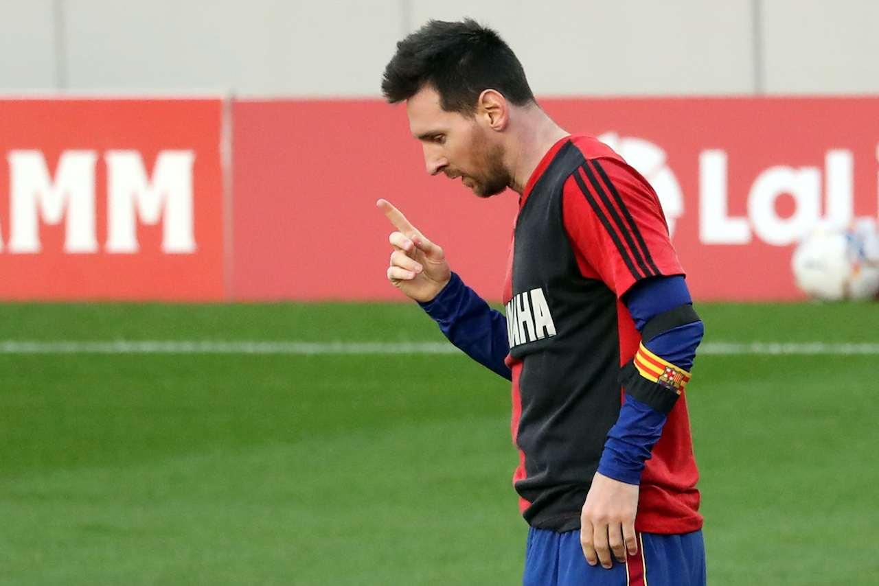 L'omaggio di Lionel Messi a Diego Armando Maradona. Getty Images