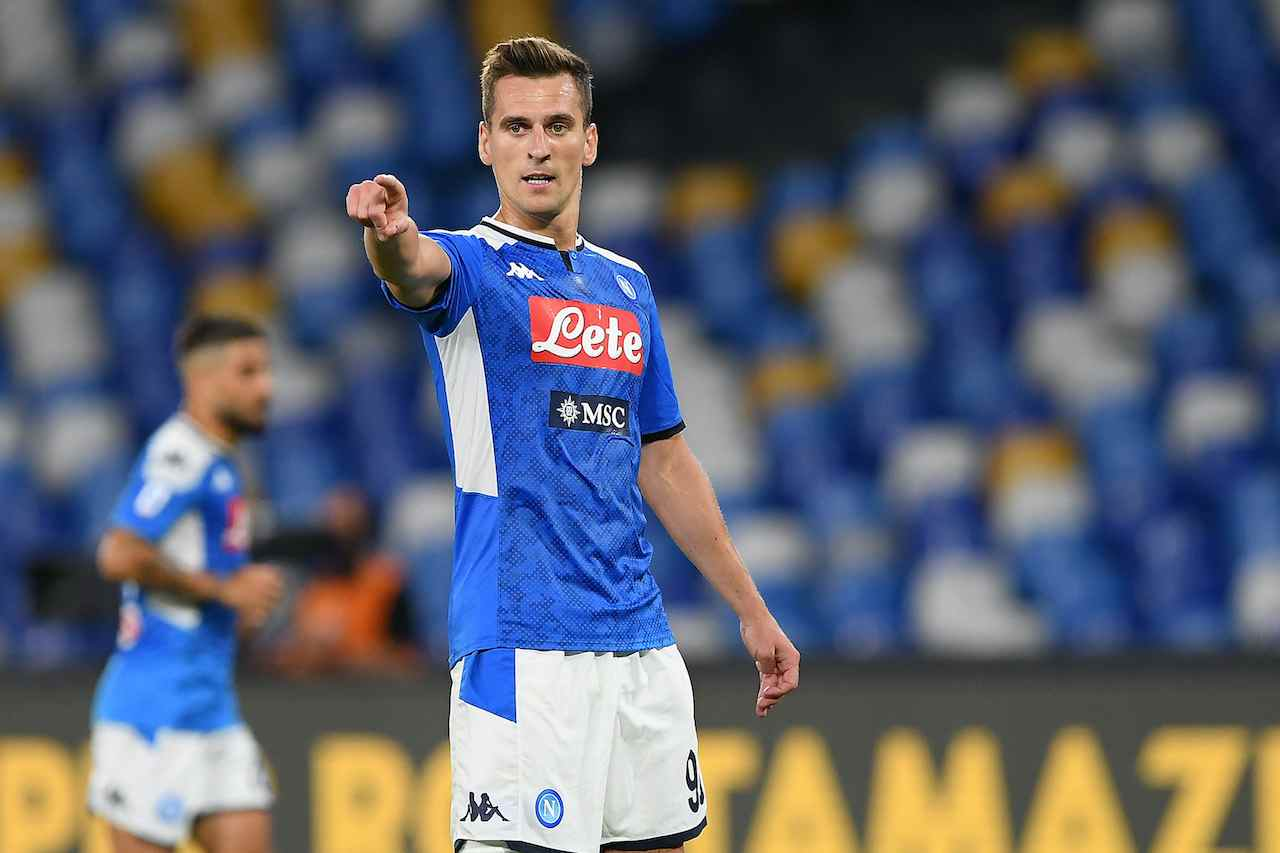 Arek Milik, attaccante del Napoli. Getty Images