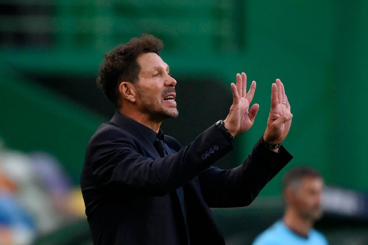 Diego Simeone, allenatore Atletico Madrid. Getty Images