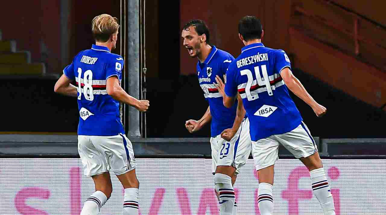 Sampdoria Gabbiadini recupero