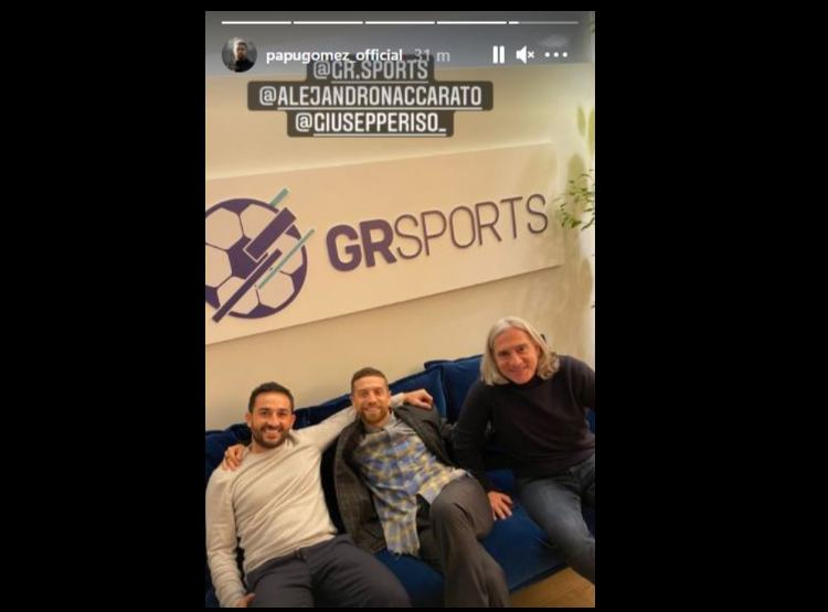 Da sinistra: Giuseppe Riso, agente sportivo, ed il suo cliente Papu Gomez (foto Instagram @papugomez_oficial)