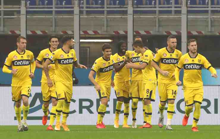 Parma, esultanza di squadra (Foto di Marco Luzzani/Getty Images)