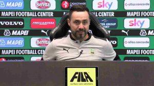 Sassuolo, il tecnico De Zerbi in conferenza stampa (foto © Sassuolo)