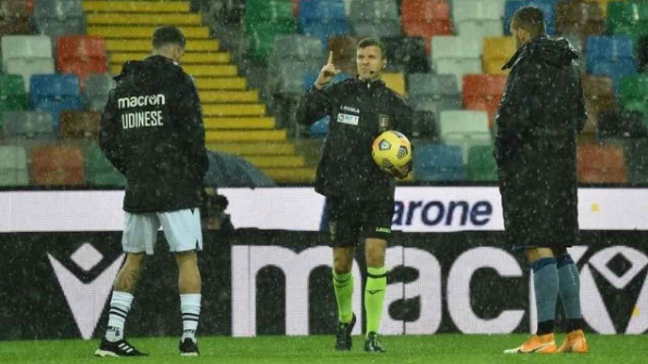 Udinese - Atalanta rinviata probabile recupero nel 2021