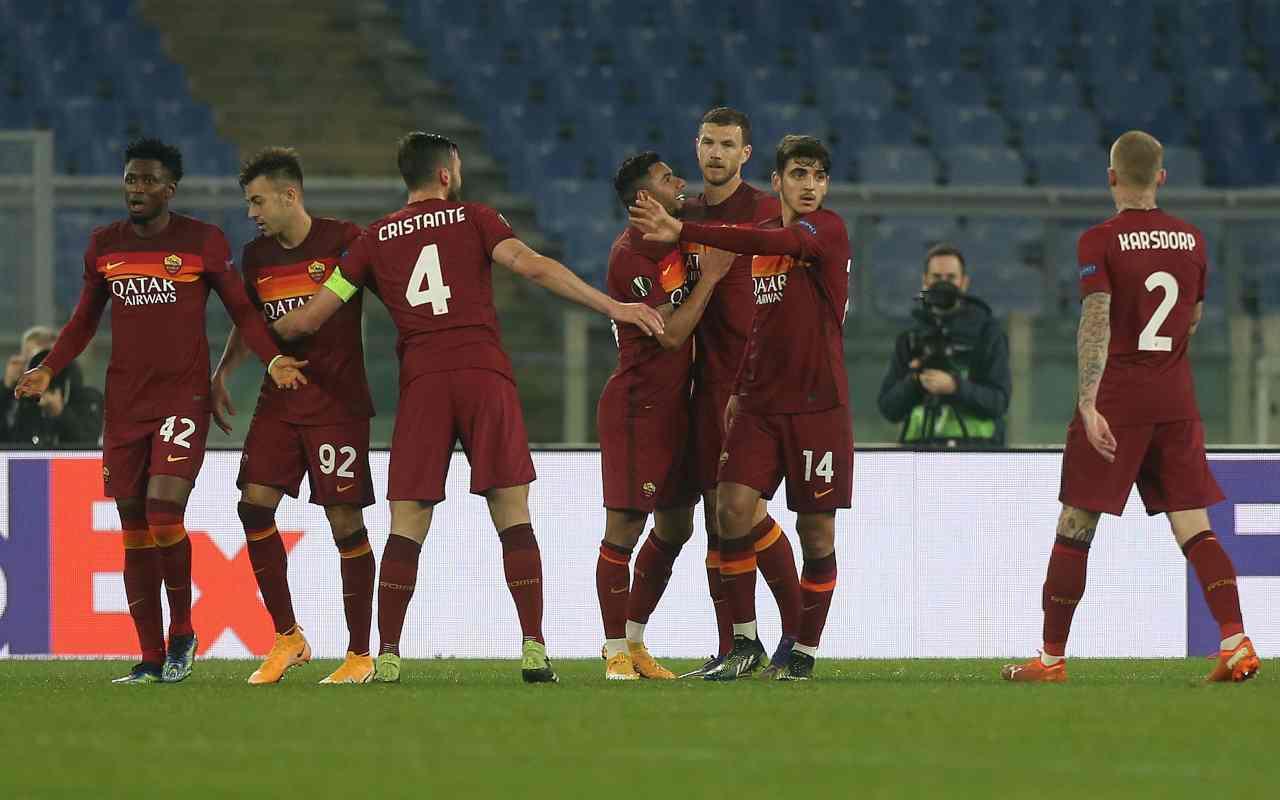 Roma, nel dopo gara parlano Mancini e Fonseca