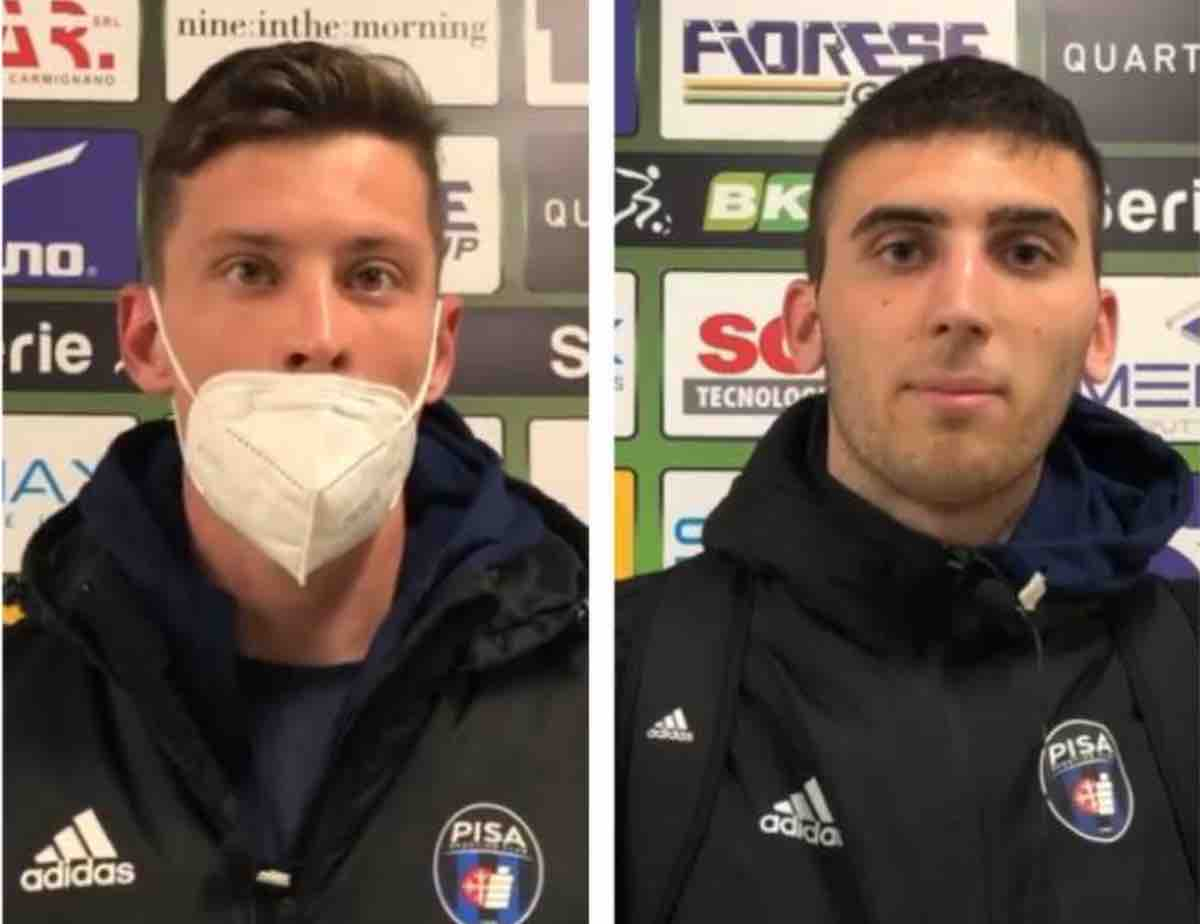 Davide Marsura e Lorenzo Masetti dopo Cittadella-Pisa