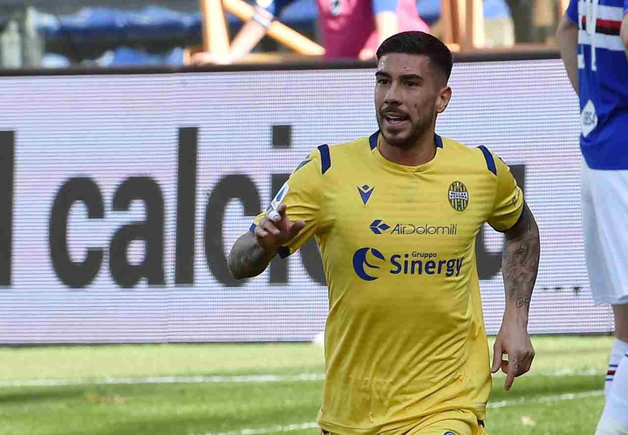 Mattia Zaccagni, centrocampista del Verona. Getty Images