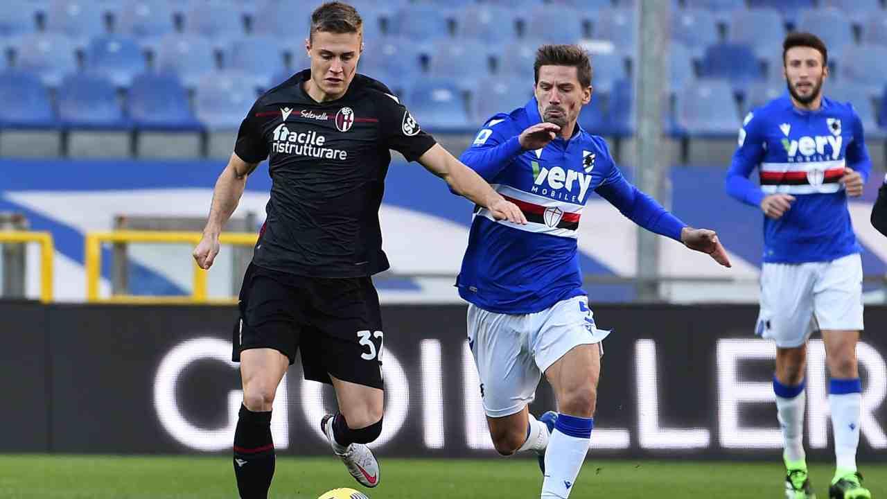 Bologna Sampdoria diretta streaming