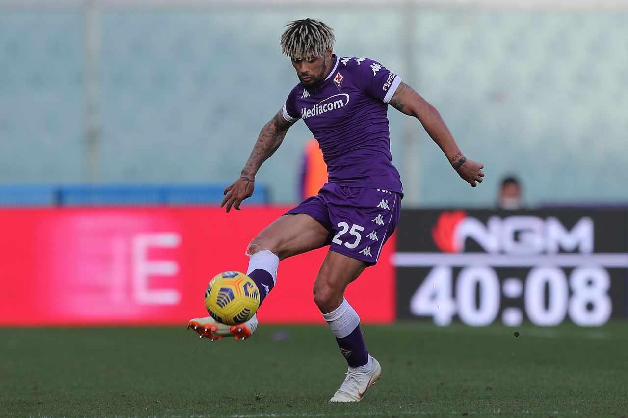 Kevin Malcuit, terzino della Fiorentina di proprietà del Napoli. Getty Images
