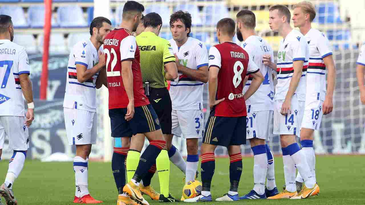 Sampdoria Cagliari diretta streaming