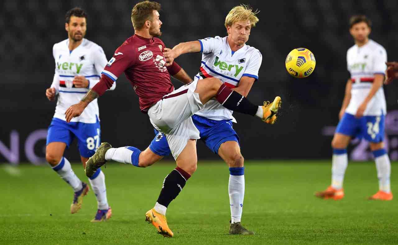 Sampdoria Torino diretta streaming