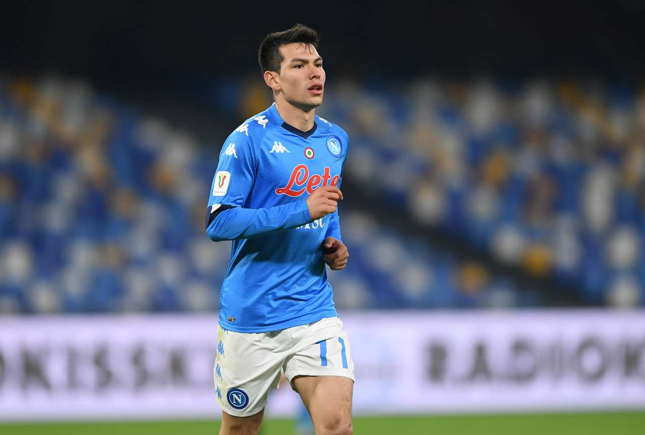 Hirving Lozano, attaccante del Napoli. Getty Images
