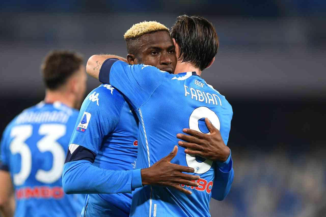 L'esultanza di Osimhen contro il Bologna. Getty Images