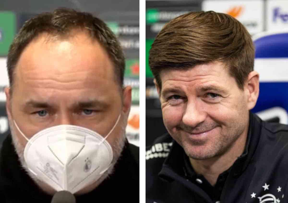 Slavia Praga-Rangers, i commenti di Trpišovský e Gerrard
