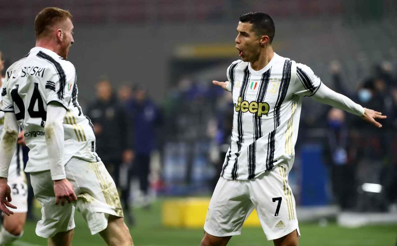 Ronaldo e Kulusevski (Photo by Marco Luzzani/Getty Images)
