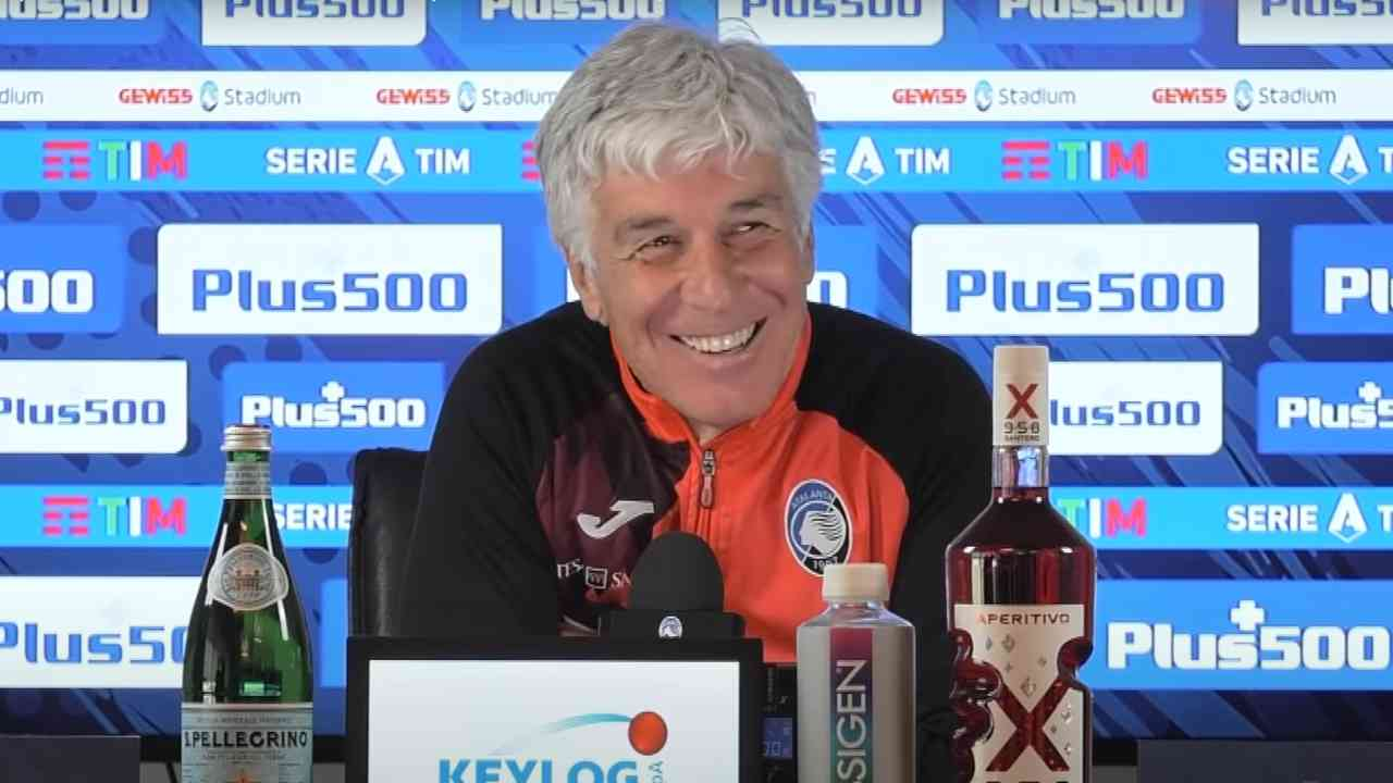Atalanta, il tecnico Gian Piero Gasperini in conferenza stampa, 27 febbraio 2021 (foto © Atalanta Bergamasca Calcio)
