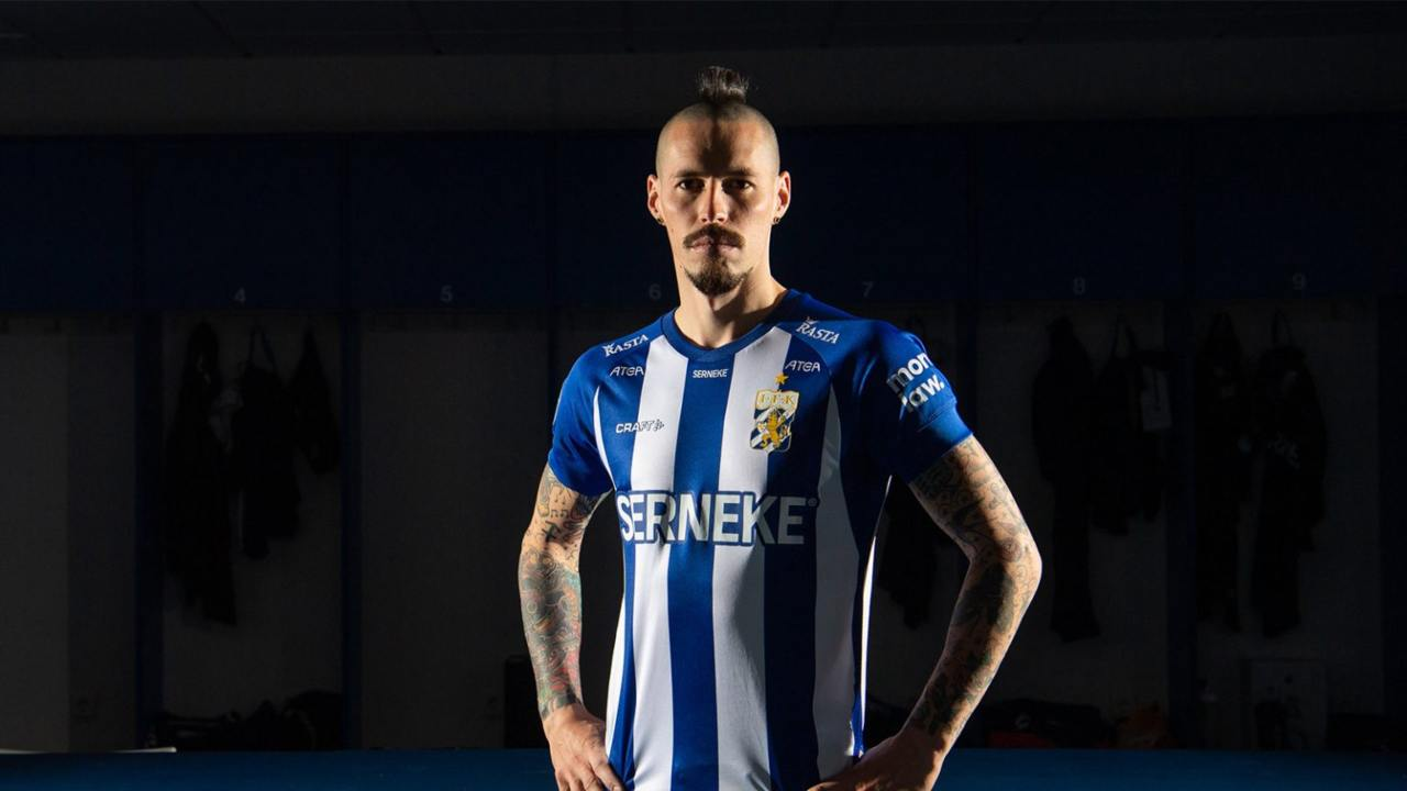 Marek Hamsik con la maglia del Goteborg. Sito ufficiale Goteborg