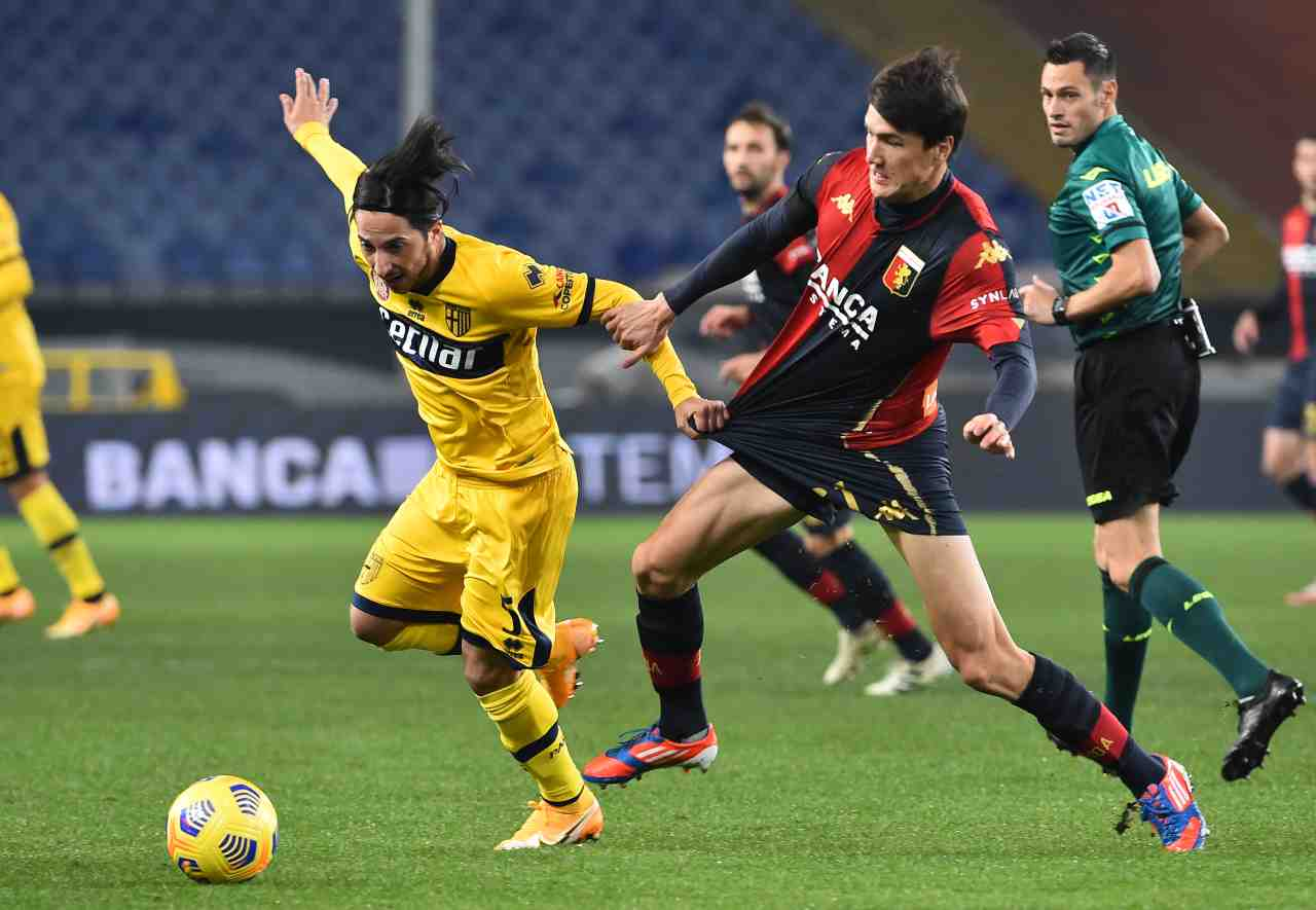Alle 20.45 Parma-Genoa (Photo by Paolo Rattini/Getty Images)