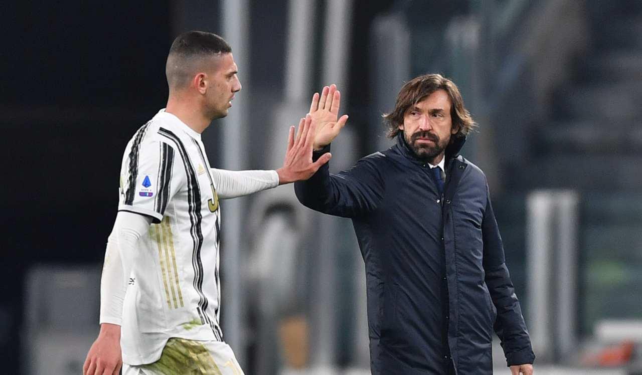 Pirlo esulta dopo il 3-0 allo Spezia (Photo by Valerio Pennicino/Getty Images)