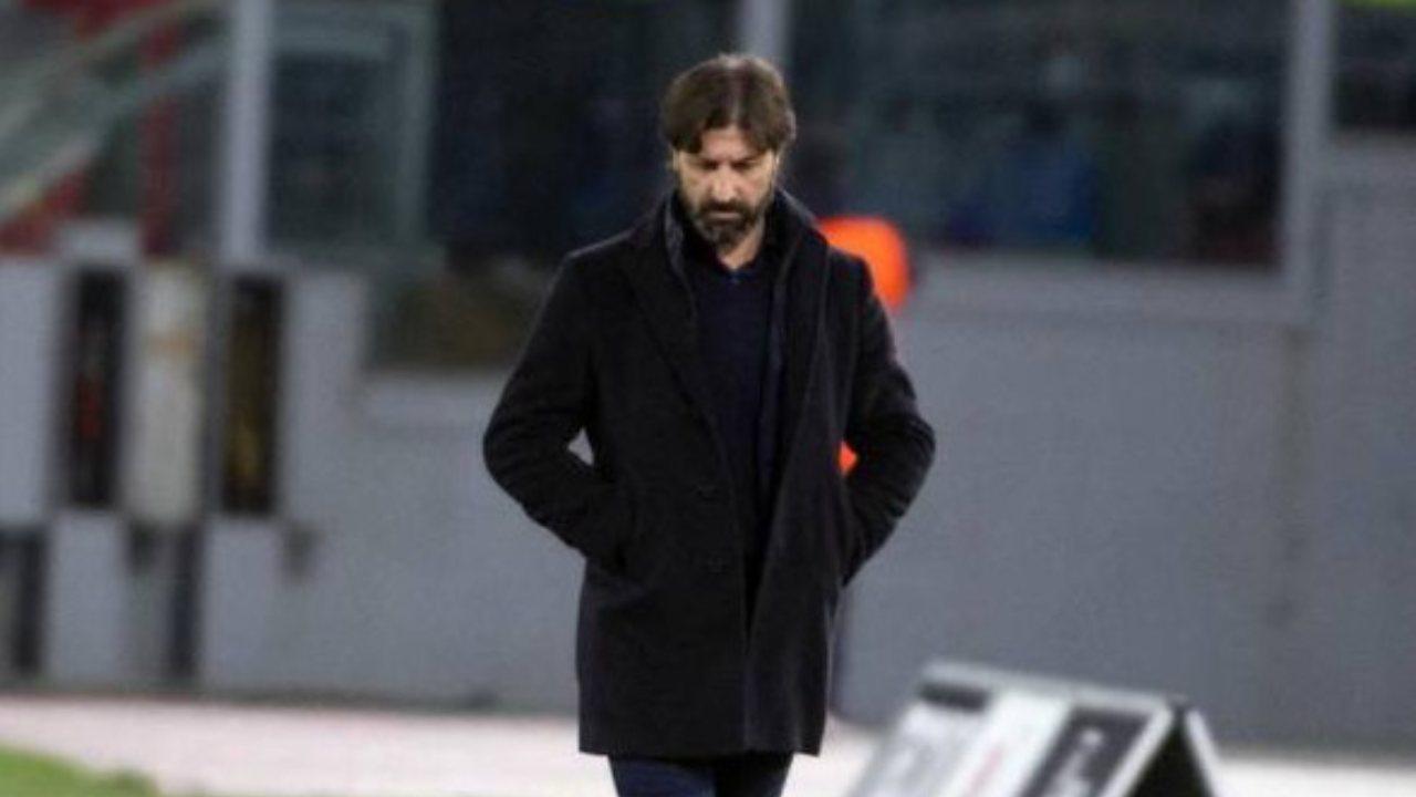 SPAL, l'allenatore Massimo Restelli a bordocampo durante la partita di Serie B Cittadella-Cremonese, 29 febbraio 2020 (foto Ansa).