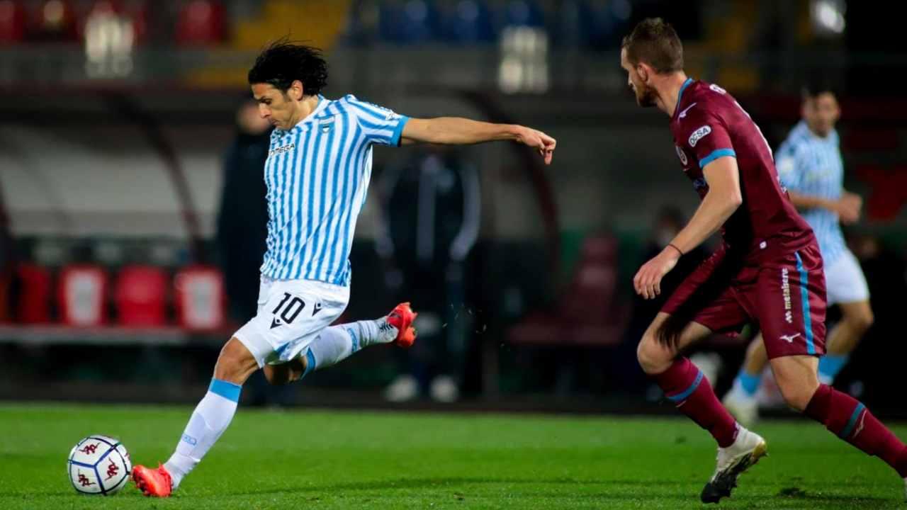 SPAL-Cittadella, Serie B, 12 dicembre 2020. Floccari in azione sul pallone (foto © SPAL)