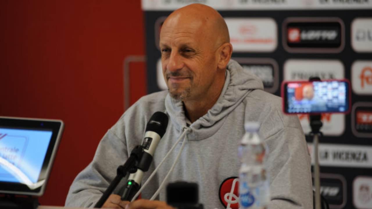 Vicenza, l'allenatore Domenico Di Carlo in conferenza stampa (foto © L.R. Vicenza)