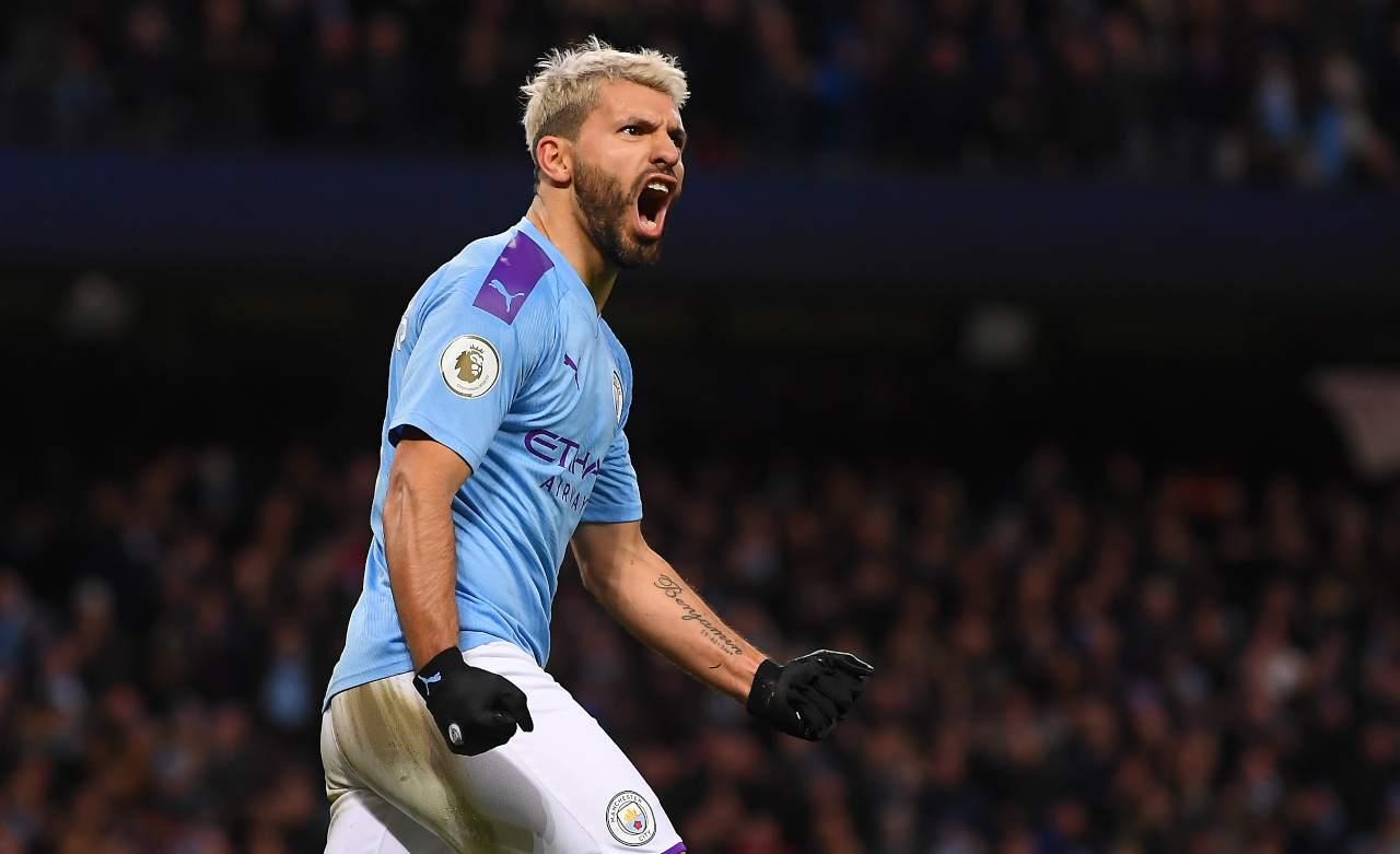 Sergio Aguero, attaccante del Manchester City. Getty Images