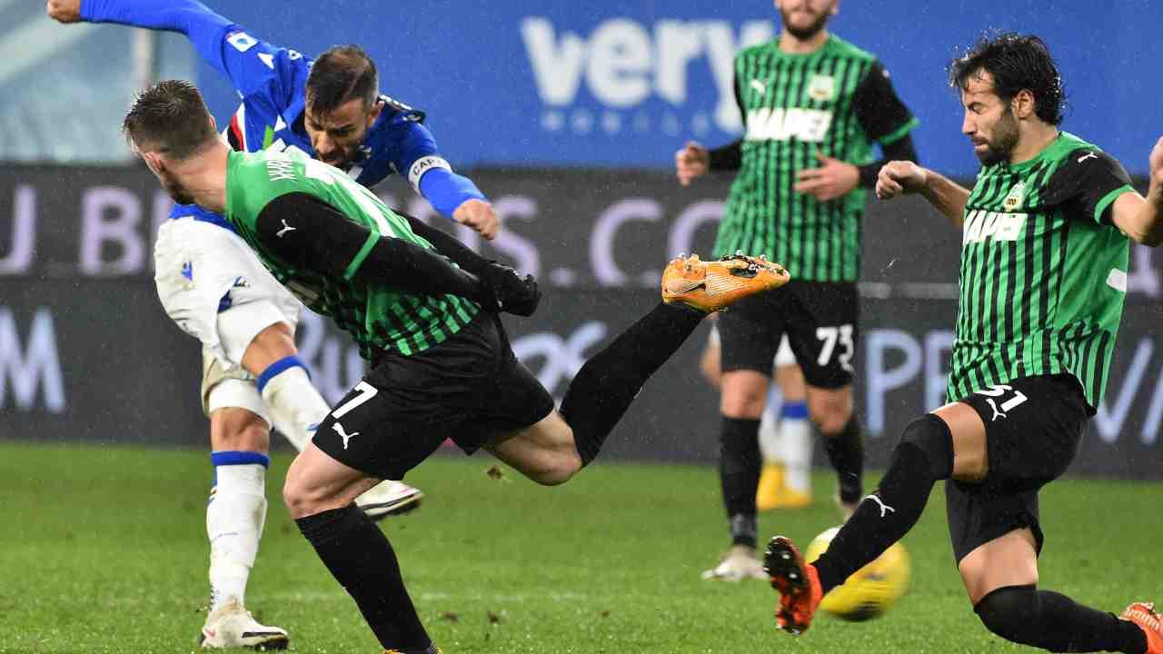 Sassuolo sampdoria diretta streaming