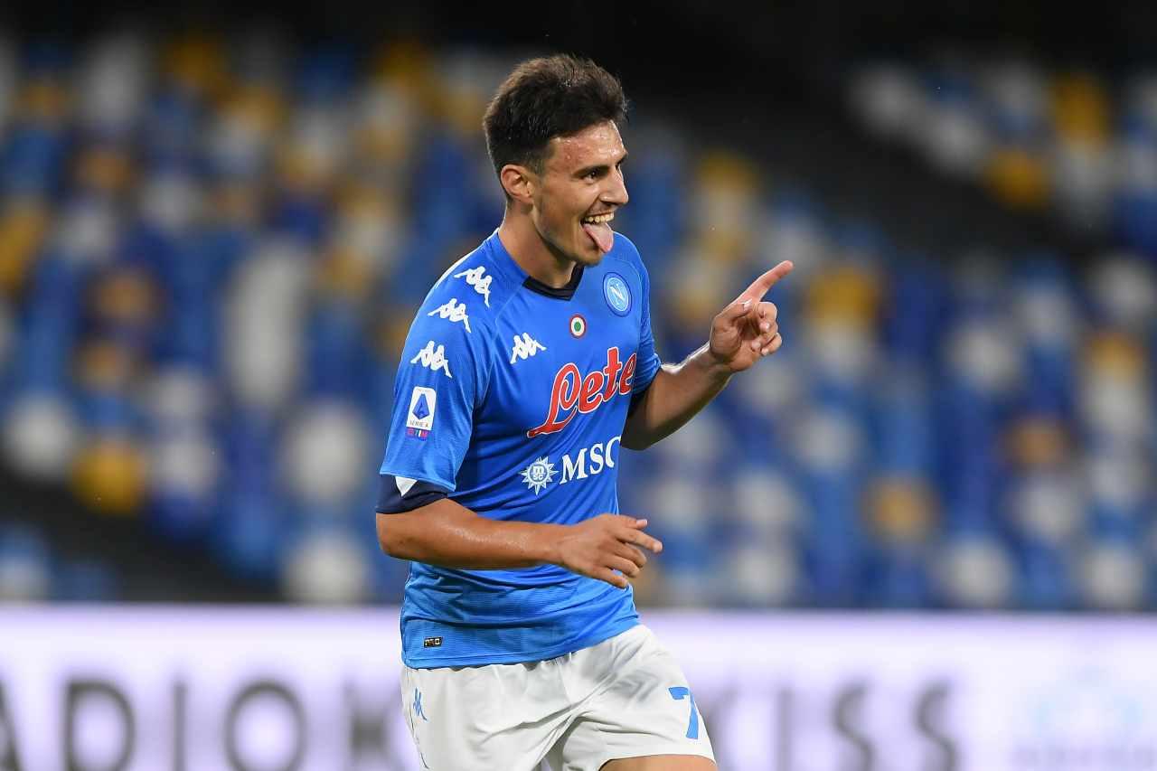 Eljif Elmas, centrocampista del Napoli. Getty Images