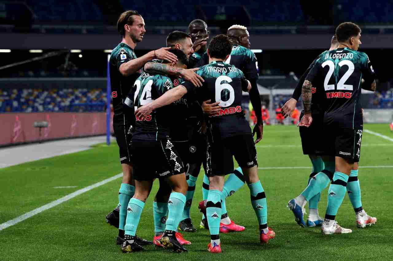 L'esultanza del Napoli contro l'Inter. Getty Images