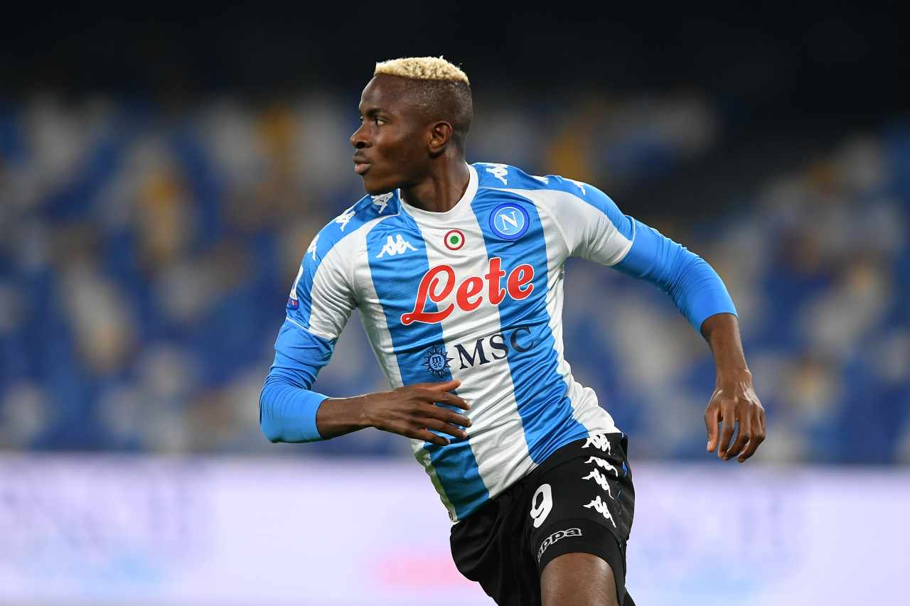 Victor Osimhen, attaccante del Napoli. Getty Images