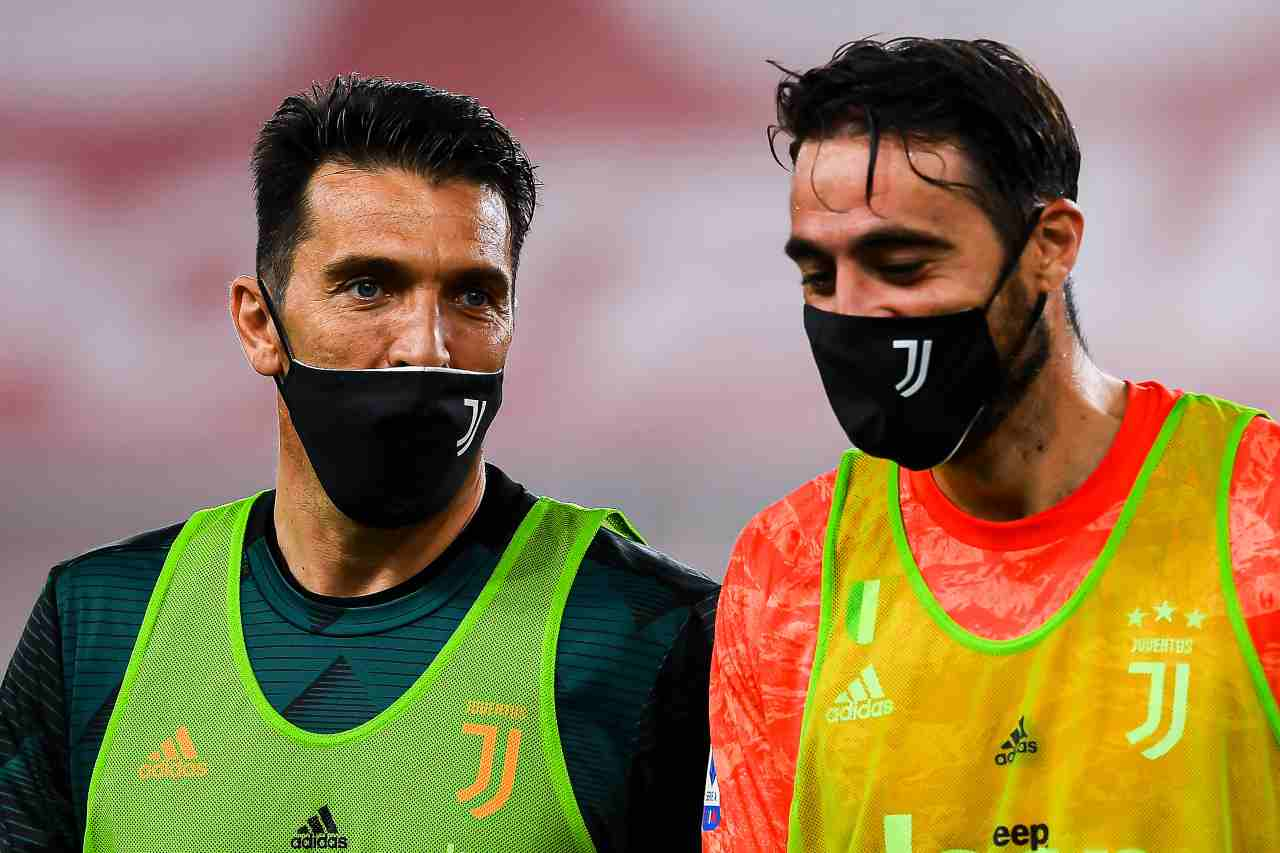 Buffon e Pinsoglio (Photo by Paolo Rattini/Getty Images)