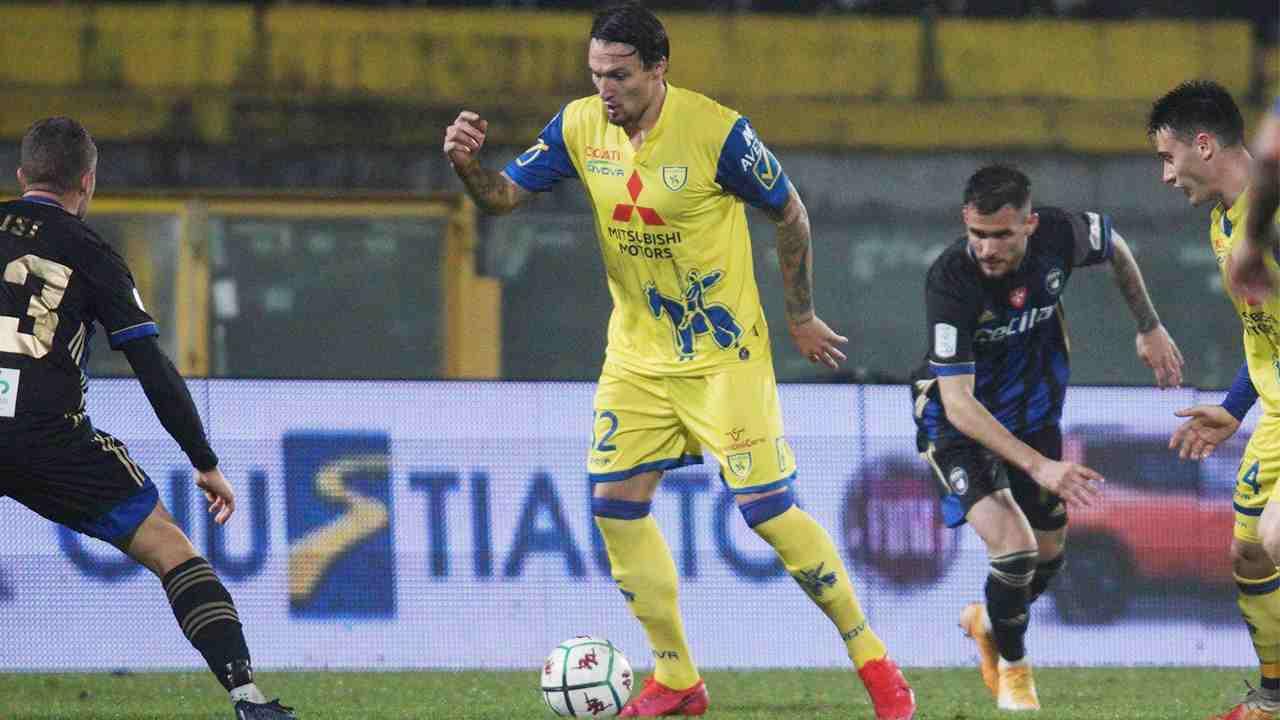 Serie B: un momento della gara Pisa-Chievo Verona del 22 dicembre 2020 (foto © Chievo Verona)