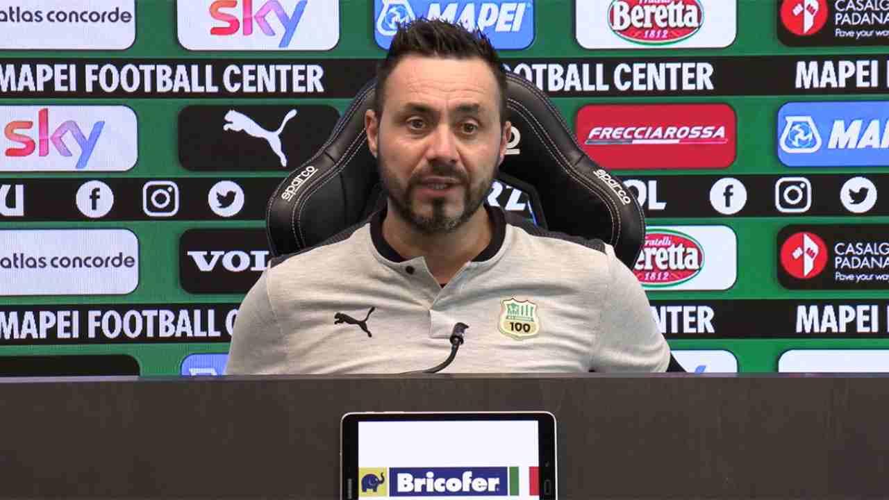 Sassuolo, il tecnico Roberto De Zerbi in conferenza stampa (foto © U.S. Sassuolo).