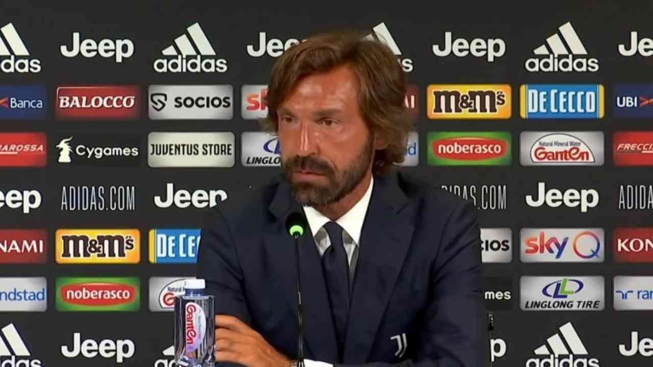 Juventus, il tecnico Andrea Pirlo in conferenza stampa (foto © Juventus FC).