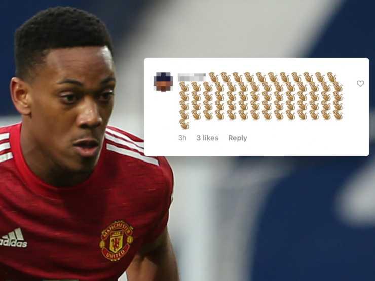 Premier League, gli insulti razziali ricevuti da Anthony Martial del Manchester United dopo il pareggio con il West Bromwich Albion (foto ©talkSPORT).