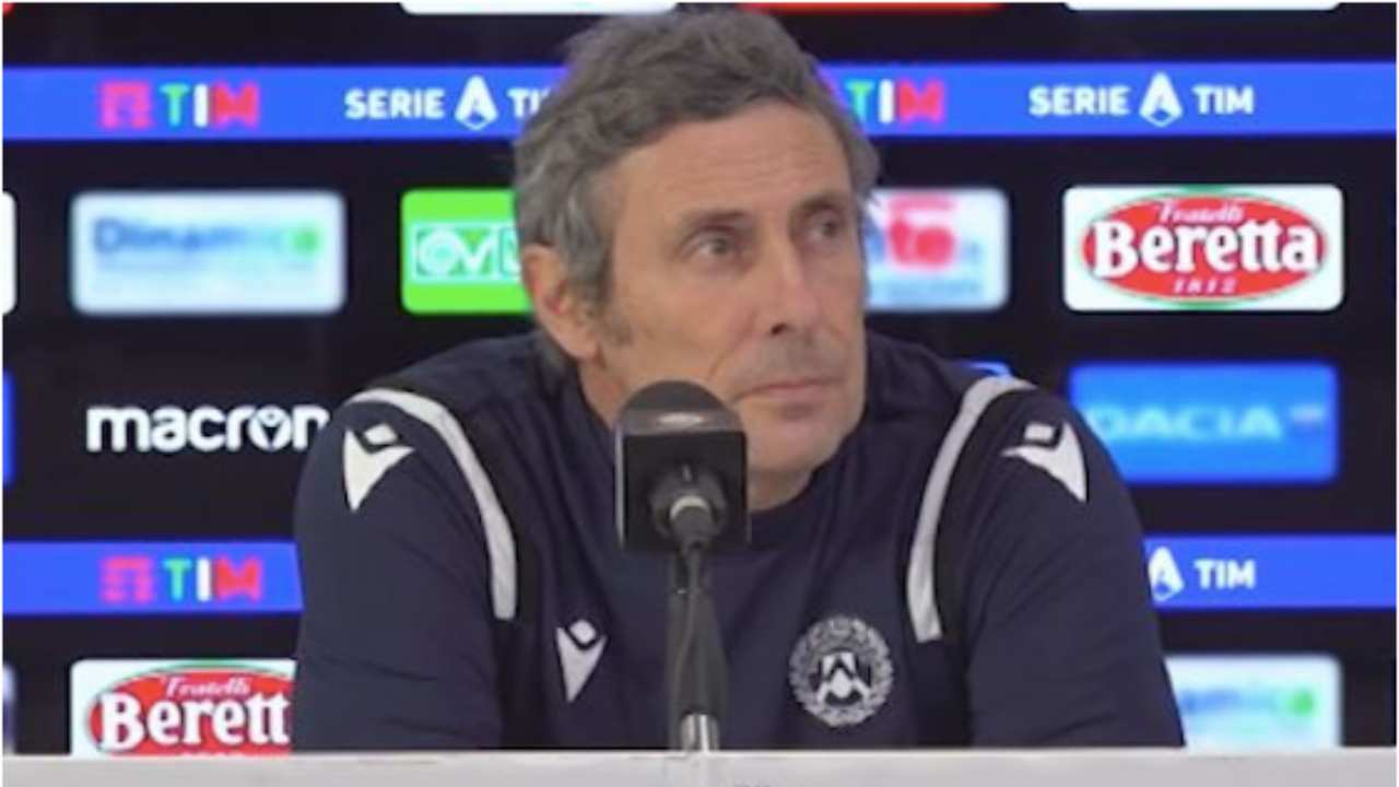 Udinese, l'allenatore Luca Gotti in conferenza stampa (foto © Udinese Calcio).