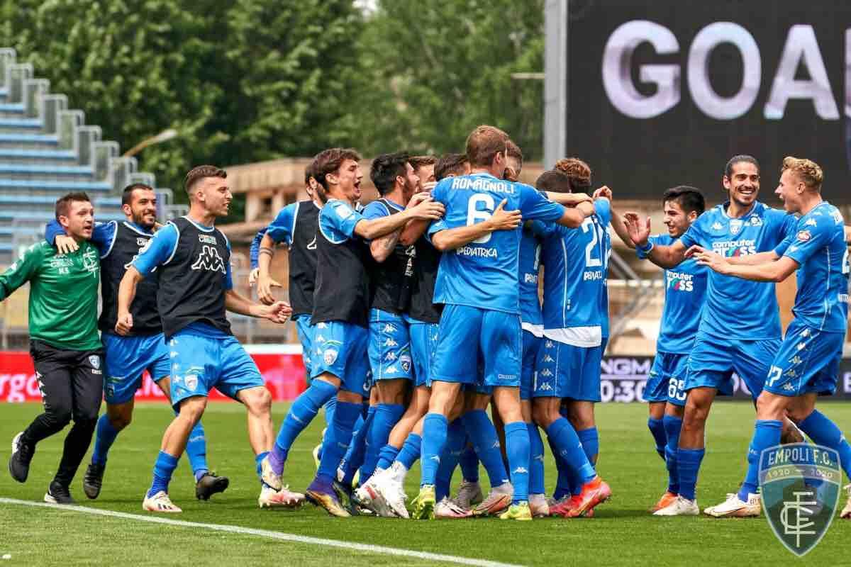 L'Empoli batte il Cosenza e conquista la Serie A